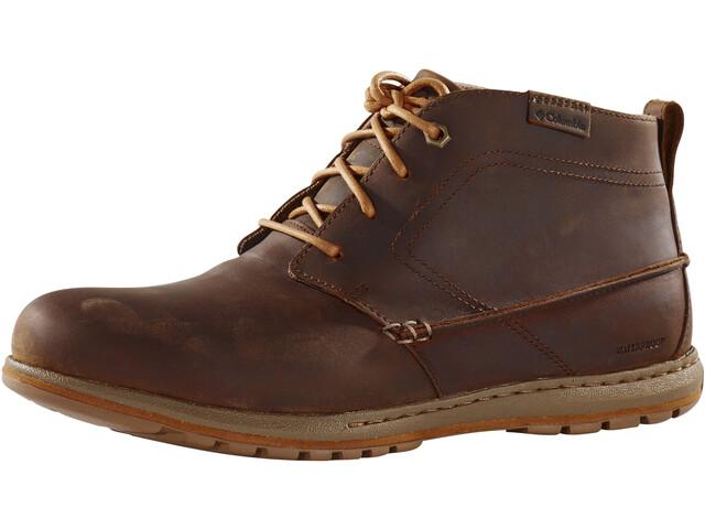 Columbia Davenport Chukka Shoes WP Leather Men, elk / bright copper